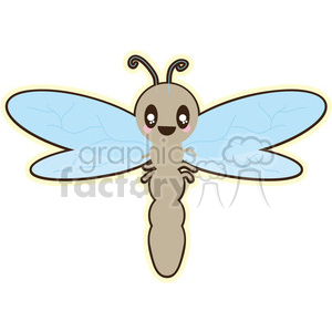 Dragonfly cartoon character illustration clipart. Royalty-free image # 394170