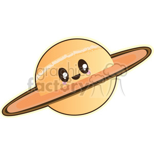 Saturn cartoon character illustration clipart. Commercial use image # 394200