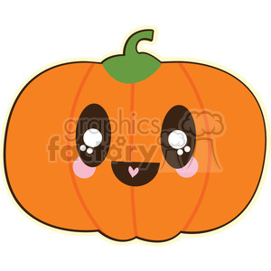 Pumpkin cartoon character illustration clipart. Royalty-free image # 394210
