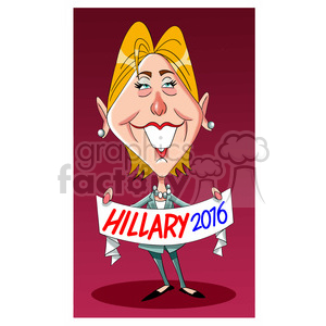 Hillary Clinton 2016 presidential candidate clipart. Royalty-free image # 394265