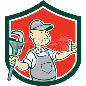 plumber thumps up SHIELD clipart. Commercial use image # 394371