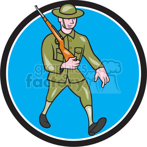 world war one british soldier marching rifle clipart. Commercial use image # 394401