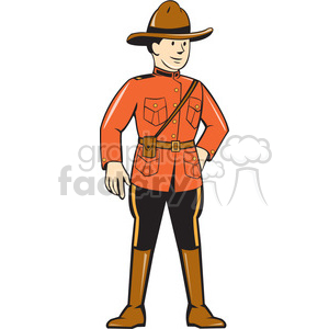 mounted police STANDING FRNT clipart. Commercial use image # 394431