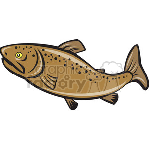 brown trout side ISO clipart. Royalty-free image # 394471