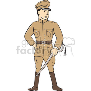 world war one officer soldier ISO clipart. Commercial use image # 394531