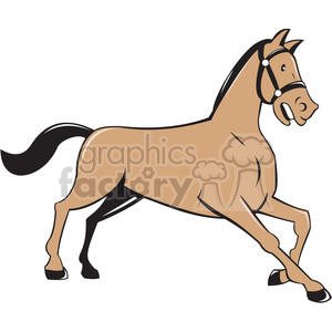 horse kneeling down side ISO