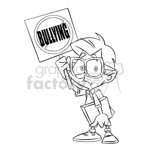 stop bullying signblack and white clipart. Royalty-free image # 394731