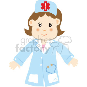 people clip art clipart images funny female girl girls women doctor doctors nurse children occupations work