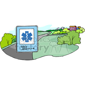 hospital sign clipart. Commercial use image # 167288
