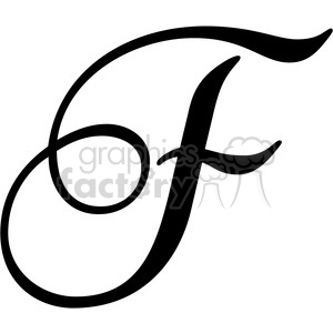 monogrammed f clipart. Commercial use image # 394817