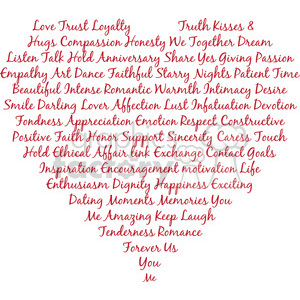 heart shape words of love typography clipart. Commercial use image # 394868