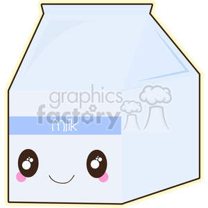 Milk Carton cartoon character vector image clipart. Royalty-free image # 394924