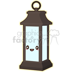 Lantern cartoon character vector image clipart. Royalty-free image # 394974