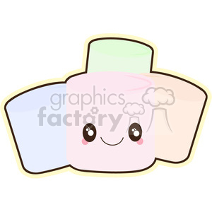 cartoon cute character marshmallow marshmallows food yum yummy snack treat