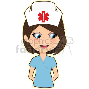 Nurse cartoon character vector image clipart. Royalty-free image # 394896