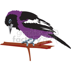 Purple Bird clipart. Commercial use image # 394995