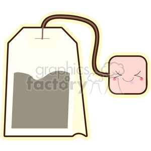 Tea Bag cartoon character vector clip art image clipart. Royalty-free image # 395010