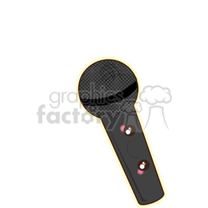 Microphone cartoon character vector clip art image clipart. Royalty-free image # 395020