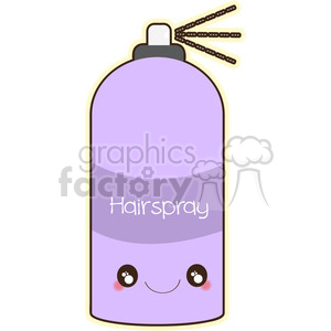 Hairspray cartoon character vector clip art image clipart. Commercial use image # 395030