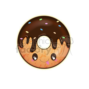 cartoon character doughnut doughnuts food snack breakfast chocolate