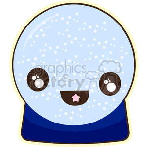 Crystal Ball cartoon character vector clip art image clipart. Royalty-free image # 395050