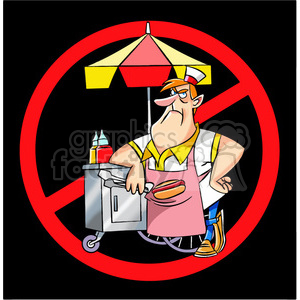 no hot dog sales clipart. Commercial use image # 395217
