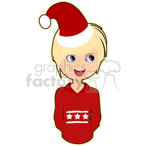 Christmas boy cartoon character vector clip art image clipart. Royalty-free image # 395256