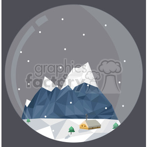 Low Poly Xmas village cartoon character vector clip art image geometric clipart. Commercial use image # 395276