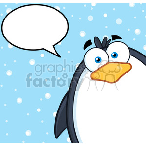 cartoon funny animal animals penguin winter cold snow