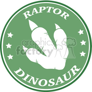 8779 Royalty Free RF Clipart Illustration Dinosaur Paw Print Green Logo Design Vector Illustration clipart. Royalty-free image # 395458