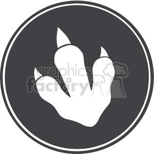 8770 Royalty Free RF Clipart Illustration Dinosaur Paw Print Circle Label Design Vector Illustration clipart. Royalty-free image # 395468