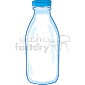 Royalty Free RF Clipart Illustration Cartoon Milk Bottle