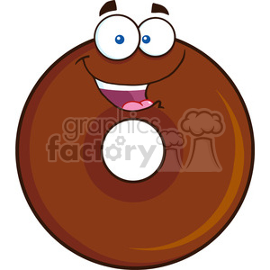 8705 Royalty Free RF Clipart Illustration Happy Chocolate Donut Cartoon Character Vector Illustration Isolated On White clipart. Royalty-free image # 396595