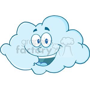 Royalty Free RF Clipart Illustration Happy Cloud Cartoon Mascot Character clipart. Royalty-free image # 396899