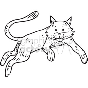 cat leaping vector RF clip art images clipart. Commercial use image # 397104