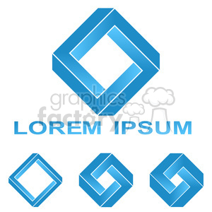 impossible penrose paradox impossible shape penrose rectangle illusion optical illusion unreal surreal abstract blue blue symbol business color company concept corporate corporation creative design element false future geometric icon illustration impossible rectangle lab logo logo element logo icon logo vector modern object optical penrose square rectangle rectangle logo science set shape sign square symbol symbol design tech technology technology logo template vector