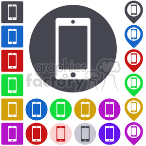 smartphone icon smartphone button mobile cell phone telephone cellphone smart cellular call sms contact touch display phone touchscreen button icon symbol sign set vector abstract app badge business circle colored design flat graphic illustration mark navigation pictogram abstract design icon icon+packs
