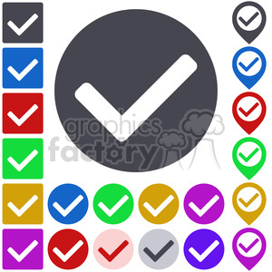 icon button 018 tick clipart. Commercial use image # 397304