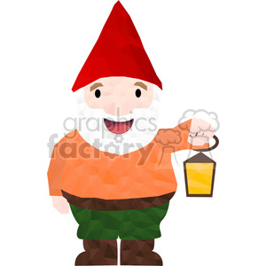 Garden Gnome geometry geometric polygon vector graphics RF clip art images clipart. Commercial use image # 397318
