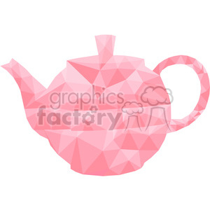 geometry polygons teapot pink tea