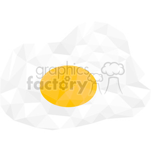 geometry polygons egg eggs breakfast food fried sunny+side+up triangle+art