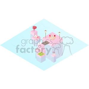 Valentines Island geometry geometric polygon vector graphics RF clip art images clipart. Commercial use image # 397348