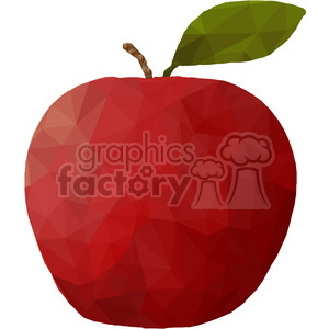 Apple  triangle art geometric polygon vector graphics RF clip art images clipart. Royalty-free image # 397358