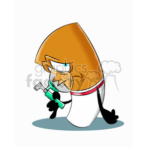 cartoon cigarette with oxygen mask clipart. Commercial use image # 397418