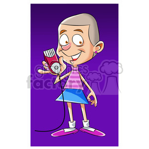 woman shaved all her hair off cartoon clipart. Royalty-free image # 397618
