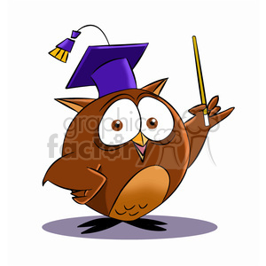 buho the cartoon owl professor clipart. Commercial use image # 397868
