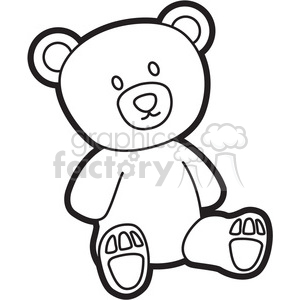 cartoon teddy bear clipart. Commercial use image # 397936
