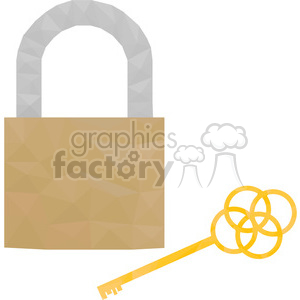 Lock and Key clipart. Commercial use image # 397946