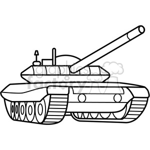 military armored tank outline clipart. Commercial use image # 397976