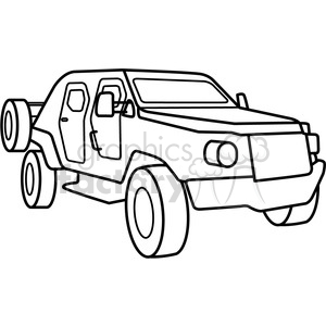 military armored scout vehicle outline clipart. Commercial use image # 397996